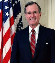 George H.W. Bush - famouslefties.com